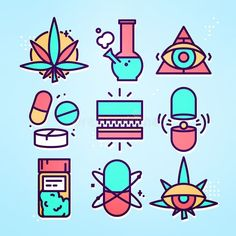 Graphic Line Art Style Medical Weed Stock Vector (Royalty Free) 533054758 Vector Pop, Vector Free, Notebook Drawing, Psychedelic Drawings, Doodle Tattoo, Graffiti Font, Cute Patches, Weed Art, Art Web