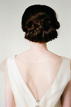 Wedding updo | Katerina Lobova Photography | see more on: http://burnettsboards.com/2014/05/ethereal-bridal-portraits/ #updo #hairstyles