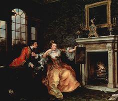 "artist-hogarth: "" The Lady's Last Stake, William Hogarth Size: cm Medium: oil, canvas"" Thomas Gainsborough, William Hogarth, Dante Gabriel Rossetti, Hanoverian Kings, Derby, Romanticism Artists, Lion Love, John Everett Millais, Baroque Art"