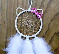 Hello Kitty Dreamcatcher  by VillageDreams on Etsy