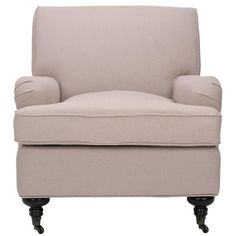 Safavieh Chloe Taupe/Java Linen Club Arm Chair - The Home Depot Living Room Seating, New Living Room, Living Room Chairs, Small Living, Most Comfortable Office Chair, Sit Back And Relax, Toss Pillows, Club Chairs, Accent Chairs