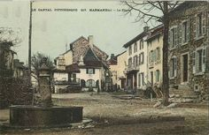 Le village de Marmanhac au siècle dernier