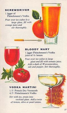 Vintage Drink Recipes