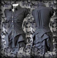 Gothic AMOUR Black Hitched Puffball Dress 8 Steampunk Victorian All Saints Style | THE WILTED ROSE GARDEN on eBay // Worldwide Shipping Available