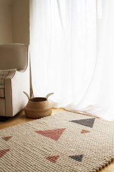 Olli Ella's brand new Geo Rug is the perfect statement piece – natural, soft…