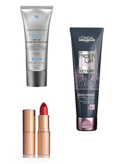 Les 3 produits de beauté fétiche d'Eva Green : rouge à lèvres rouge, french froissé de l'oréal et soin solaire Skinceuticals