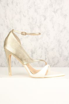 Sexy Rose Gold Two Tone Single Sole Ankle Strap High Heels Ankle Strap High Heels, Chunky High Heels, Ankle Straps, High Heel Pumps, Pumps Heels, Stiletto Heels, Rose Gold Heels, Prom Heels, Fashion Heels
