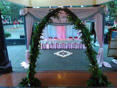 Decor and catering : Daffa catering MUA : Putri Nawangsari Venue : Balai Makarti Muktitama Kalibata