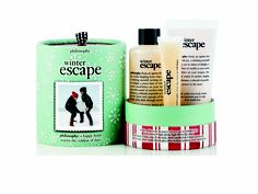 philosophy winter escape - $40.00    treat yourself this christmas with the winter escape set. the set contains fresh vanilla frost shampoo, shower gel & bubble bath 120ml, fresh vanilla frost body lotion 60ml, fresh vanilla frost lip shine 15ml
