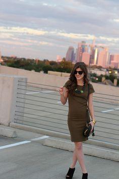 Olive Green Dress (1)