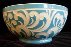abstract wave bowl