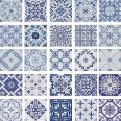 Portuguese traditional decorative hand painted ceramic tiles