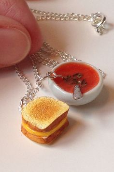 Hey, I found this really awesome Etsy listing at https://www.etsy.com/listing/197547917/grilled-cheese-and-tomato-soup-necklace