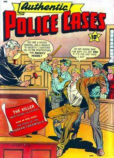 Authentic Police Cases v1 #13 st john crime comic book cover art by Matt Baker Comic Book Plus, Comic Book Covers, Comic Book Artists, Comic Books, Crime Comics, Matt Baker, Bristol Board, Funny Slogans, Vintage Comics