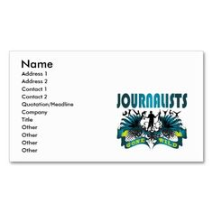 everybody loves a journalist business cards journalist reporter
