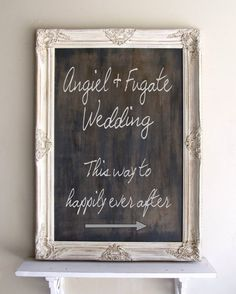 Chalkboard Sign Barn RUSTIC WEDDING Sign Framed CHALKBOARD Vintage Wedding Shabby Chic Chalk Board Menu Decoration Ornate Old World. $185.00, via Etsy.