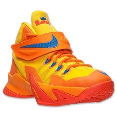 kid shoes Nike Lebron Soldier VIII orange yellow blue size 5Y new #Nike #Athletic