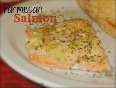 Parmesan Salmon. Easy Weeknight Meal