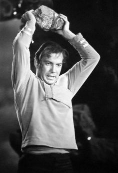 "Kirk in action, from the episode ""Where No Man Has Gone Before"", 1966"