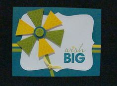 handmade card ... fantasy flower from punched pieces ... luv the vibrant colors ... Stampin' Up!