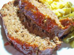 My Dad made this meatloaf at least once a month and it was always my favorite dish. Even my meatloaf hating husband loves it! Sure to be a hit with both the meatloaf lovers and haters alike! Healthy Meatloaf, Good Meatloaf Recipe, Best Meatloaf, Meatloaf Recipes, Pork Recipes, Snack Recipes, Dinner Recipes, Italian Meatloaf