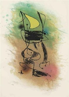 LE GRILLON SOUS LA LUNE 1978 Realized price 3,750 USD  Estimate 2,000 - 3,000 USD  Dimensions: S. 24 7/8 x 18 in  Etching with aquatint in colors Signed  Edition number: 25/30  Christie's New York Jul. 21, 2011