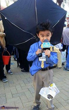 DIY Weatherman Halloween Costume for kids - would be super cute for an adult too!