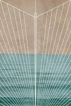 Art Deco Geometric nautical print boho beach art by JaneRovers, $30.00