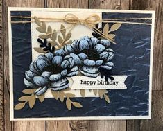 Pop Up Flowers, Blender Pen, Stamping Up Cards, Handmade Birthday Cards, Stampin Up, Card Making, Happy Birthday, Paper Crafts, Texture