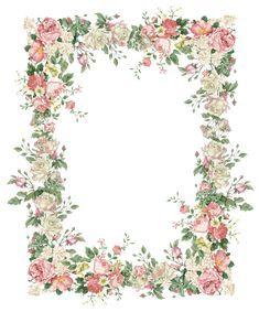 Flower Border Png, Flower Frame Png, Rose Frame, Floral Border, Victorian Flowers, Vintage Flowers, Vintage Floral, Pressed Flowers Frame, Picture Borders