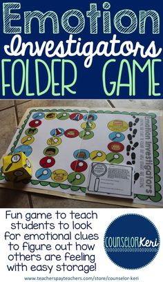 Elementary school counseling folder game to explore how others feeling! -Counselor Keri