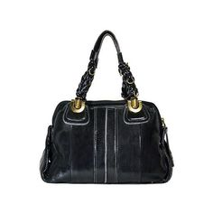 "Chloe - ""Heloise"" Leather Handbag - Black via Polyvore"