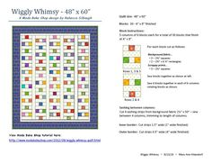 """""""Wiggly Whimsy"""" quilt pattern for St Vincent Passage Quilts (August 2015)"""