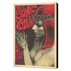 sonic youth vintage concert poster reproduction