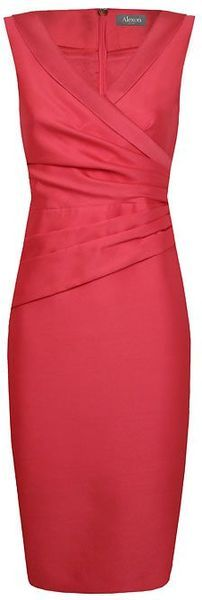 think this would look gorgeous on our daughter Jen!Alexon Wool Silk Dress - Lyst