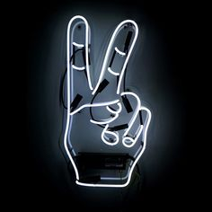 Fancy - Peace Neon Sign