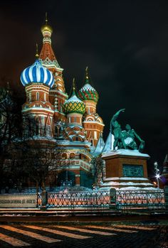 Snowy St Basil's, Moscow, Russia #MostBeautifulArchitecture #Moscow