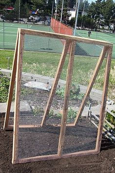 How to Build an A-Frame Trellis - great idea for Strawberry plants