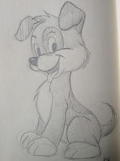 Dog sketch. By Yenthe Joline.
