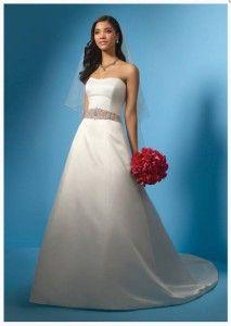 Nowa, Unikalna, Amerykańska Suknia Ślubna Firmy Alfred Angelo, Styl: 2024 W, Rozmiar 22 W (USA), Kolor: Ivory (Kość Słoniowa)/Jade (Zielony)