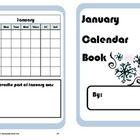 January Calendar Math Booklet - FREE