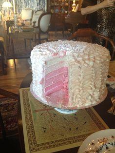 Pink ombré cake