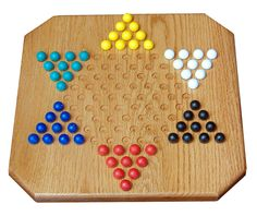 Chinese Checker Board Solid Wood