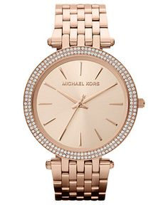 Michael Kors Watch, Women's Darci Rose Gold Tone Stainless Steel Bracelet 39mm MK3192 - For Her - Jewelry & Watches - Macy's