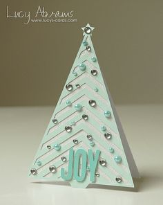 Christmas tree card❣ Lucy Abrams • Flickr