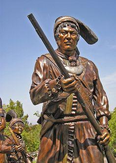 Seminole Indian bronze sculptures