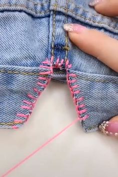 Fantastic sewing hacks are available on our website. Read more and you will not… Fantastic sewing hacks are available on our website. Read more and you will not be sorry you did. Sewing Hacks, Sewing Tutorials, Sewing Crafts, Sewing Tips, Sewing Stitches, Sewing Patterns, Invisible Stitch, Sewing Alterations, Diy Clothes Videos