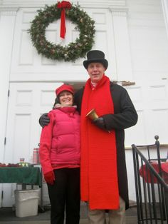 Town Crier & Nancy at the Library