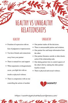 Healthy Vs Unhealthy Relationships, Life Lessons, Motivation, Enchanted, Qoutes, Blog, Inspiration, Quotations, Biblical Inspiration