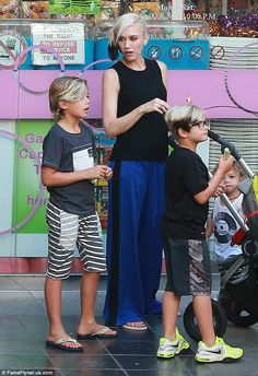 She's got her boys! Gwen Stefani certainly isn't lacking male company as she spent yet ano...